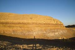krateru warstew Ramon skała Zdjęcia Royalty Free