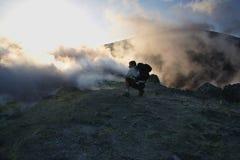 krateru wulkan uroczysty odgórny fotografia royalty free