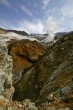 kratervulkan Arkivbild