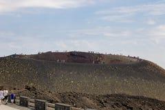 Kratery Etna w Sicily 08/08/2018 obraz stock
