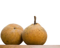 Krathon or Santol. Is a sweet tropical fruit that is commonly found in Southeast Asia Royalty Free Stock Image