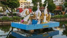 Krathong décoré pour le concours pendant le festival de Loy Krathong Photos stock
