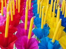Krathong or Floating Basket, Loy krathong festival ,Incense , ca Stock Images
