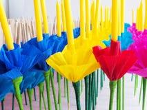 Krathong or Floating Basket, Loy krathong festival ,Incense , ca Stock Photography