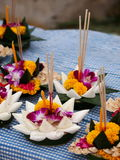 Krathong, the hand crafted floating candle Stock Photo