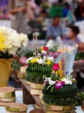 Krathong, the hand crafted floating candle Stock Image