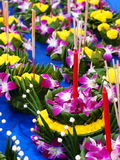 Krathong, the hand crafted floating candle Royalty Free Stock Photo