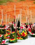 Krathong, the hand crafted floating candle Stock Images