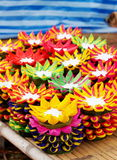 Krathong, the hand crafted floating candle Royalty Free Stock Image