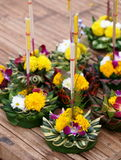 Krathong, the hand crafted floating candle Stock Photography