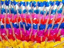Krathong oder sich hin- und herbewegender Korb, Loy-krathong Festival, Weihrauch, Ca Lizenzfreies Stockfoto