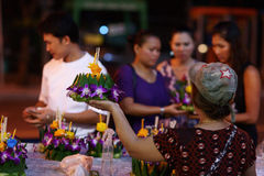 Krathong Vendor Royalty Free Stock Image