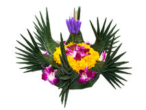 Krathong on white background Royalty Free Stock Photography