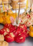 Krathong wordt gemaakt van brood Stock Fotografie