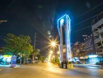 KrathumBaen在晚上在泰国 免版税图库摄影