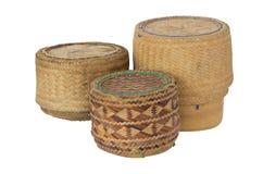 3 KRATIB-de doos van de bamboerijst Stock Afbeelding