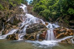 Krating waterfall. Waterfall shot from Chanthaburi Stock Photos