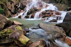 Krating waterfall. Waterfall shot from Kitchakuch mountian stock photography