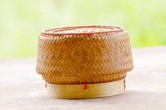 Kratip或黏米饭篮子容器 免版税图库摄影