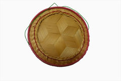 Kratip: bambubehållare för att rymma lagade mat limaktiga ris Arkivbild