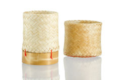 Kratip Khao, Thai bamboo sticky rice container Stock Image
