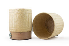 Kratip Khao. Thai sticky rice packaging of north east Thai people or E-San people. The material is made from bamboo. This hand made package is very craft . It Royalty Free Stock Images