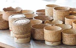 KRATIP, récipient en bambou thaïlandais de riz collant du Laos, ceci est les clas Image stock