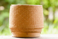 Kratip or sticky rice basket container Royalty Free Stock Image