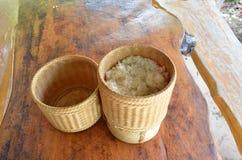 Kratip tailandese il contenitore del riso fotografia stock