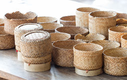 KRATIP, thai laos bamboo sticky rice container, this is the clas Stock Image