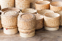 KRATIP, thai laos bamboo sticky rice container, this is the clas Royalty Free Stock Photography