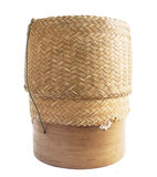 KRATIP, thai laos bamboo sticky rice container. Isolated royalty free stock image