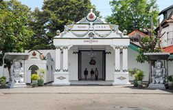 Kraton Palace of Yogyakarta, Indonesia. Yogyakarta, Indonesia - 28 January 2013: Kraton Palace of Yogyakarta, Indonesia Stock Image