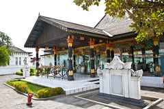 Kraton Sultan Palace um museu vivo da cultura do Javanese. Indone fotografia de stock royalty free