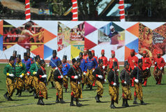 Kraton Surakarta Sultanate troops Royalty Free Stock Photography