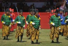 Kraton Surakarta Sultanate troops Royalty Free Stock Image