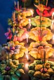 Kratong machte vom Brotsafe für Welt Loy Krathong, Thailand's das meiste schöne Feiertags-Festival lizenzfreies stockbild