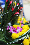 Kratong made from banana leaves and flowers. Stock Photography