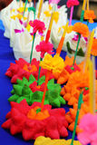 Kratong made from bread variety of colors. Stock Photo