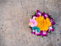 Kratong pour Loy Kratong Festival en Thaïlande Image stock
