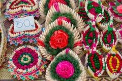 Kratongs für Loy Kratong Festival lizenzfreies stockbild