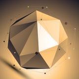 Kratownicy abstrakcjonistyczna 3D sfera, wektorowy cyfrowy eps8 kratownicy przedmiot p Obraz Stock