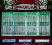 Kratownicy okno fotografia stock