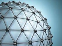 Kratownicy sfera Pojęcie molekuła abstrakcyjny tło zdjęcie stock