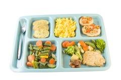 Kraut gebratene Huhncafeteriamahlzeit Lizenzfreies Stockfoto