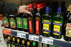Krauterbitter or spiced liqueur Stock Photo