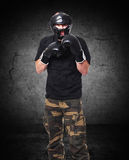 Krav maga fighter Stock Photography