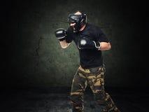 Krav maga fighter royalty free stock photography