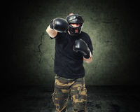 Krav maga fighter Stock Images
