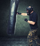Krav maga fighter Royalty Free Stock Photo